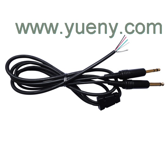 Replacement main cable for aviation headsets mono
