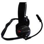carbon fiber OTH (behind the head) racing headset RH-8000F flexible boom