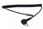5 pin mini xlr Quick Disconnect coiled Cables for 2-way radio connection