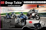G8 Group Talkie for 4 riders same time talking conference intercom